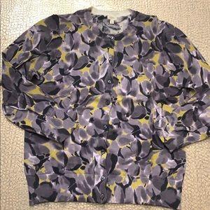 J crew ladies floral cardigan